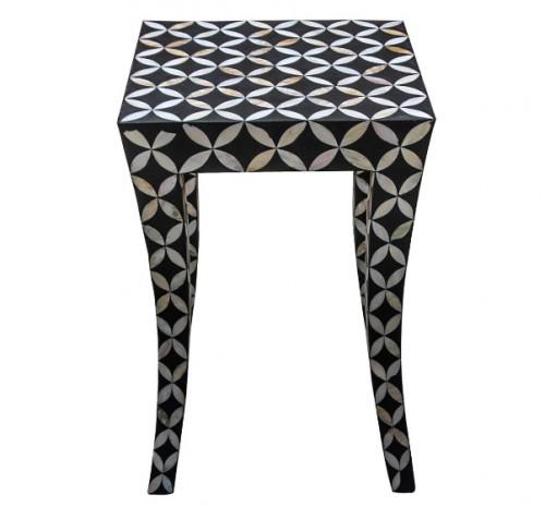 Bone inlay End table