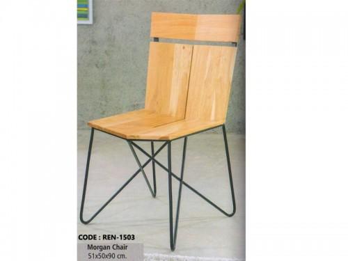 Morgan Chair Made of Acacia Wood and Metal