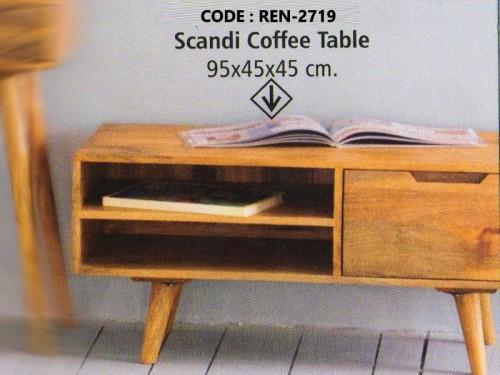 2 Shelf 1 Drawer Made of Acacia Wood