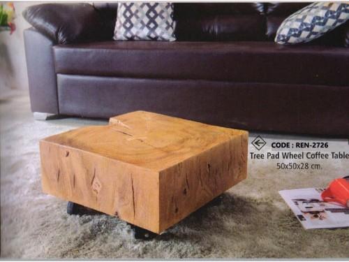 Tree Pad Wheel Coffee Table