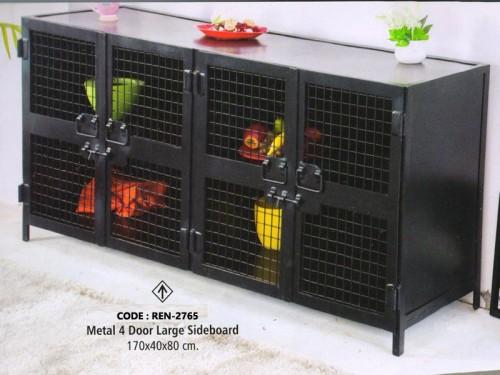 Metal 4 Door Large Sideboard