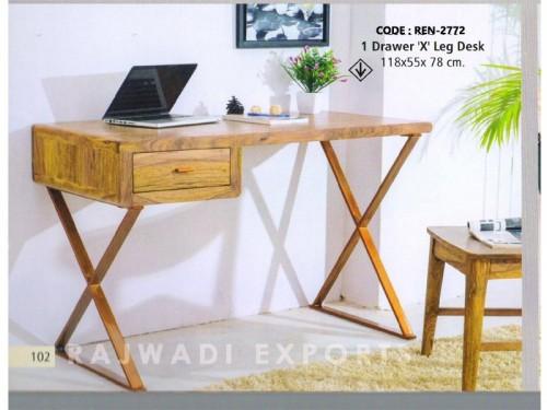 1 Drawer Desk Made of Mango Wood