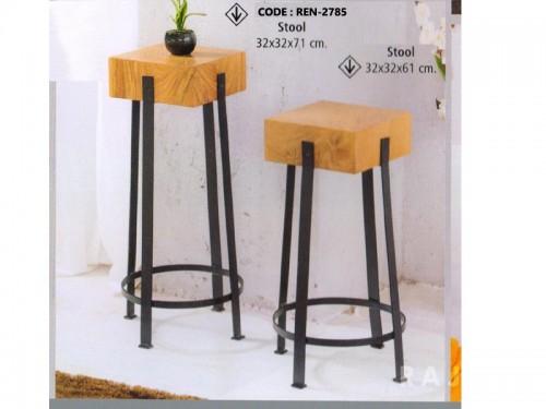Big Coffee Table Made of Acacia Wood and Metal