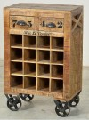Reclaimed Wood Wine Small Cabinet